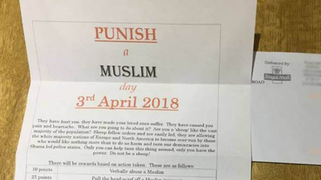 Muslim MPs sent 'Punish a Muslim Day' letters encouraging mosque bombings