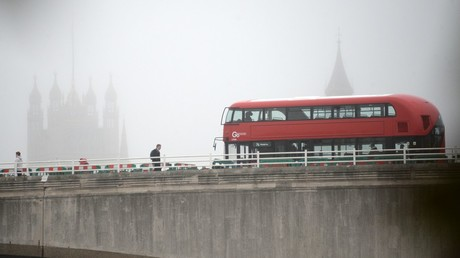 A double decker bus on a bridge in London © Kirill Kallinikov