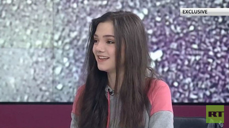 Russian figure skating star Medvedeva makes debut as TV host