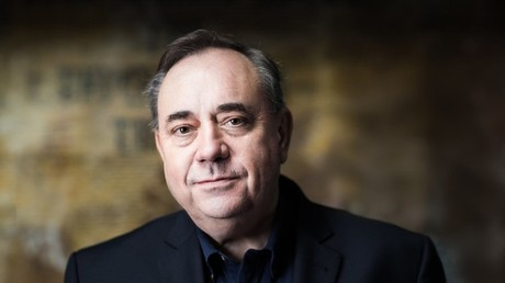 The Alex Salmond show is aired on RT - but will be under threat if Ofcom acts against Russia © RT