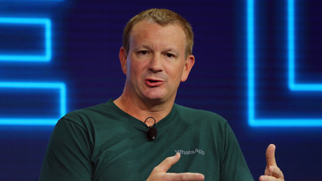 Brian Acton, co-founder of WhatsApp, speaks at the WSJD Live conference in Laguna Beach, California October 25, 2016. Mike Blake