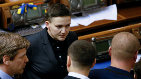 FILE PHOTO: Ukrainian parliamentary deputy Nadiya Savchenko attends a parliament session in Kiev, Ukraine, March 15, 2018. © Valentyn Ogirenko
