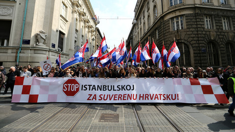 Croatian conservatives march against transgender rights in Zagreb (PHOTOS)