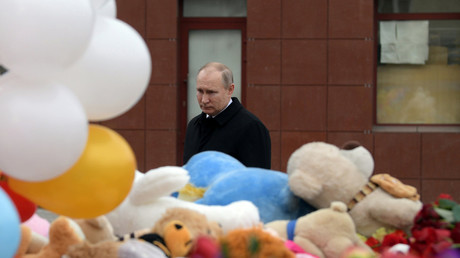 Theresa May sends condolences to Putin over 'terrible' Kemerovo tragedy