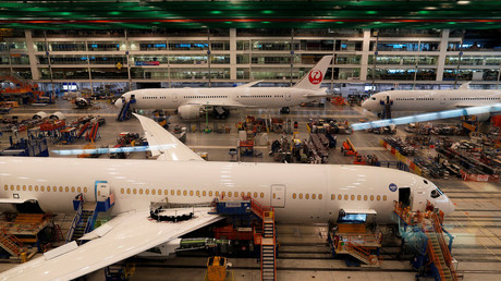 FILE PHOTO: A Boeing 787-10 aircraft being built at Boeing South Carolina in North Charleston © Randall Hill