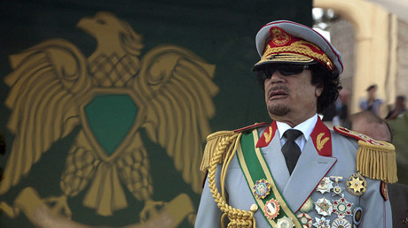 Libya's leader Muammar Gaddafi attends a celebration of the 40th anniversary of his coming to power at the Green Square in Tripoli September 1, 2009. © Zohra Bensemra