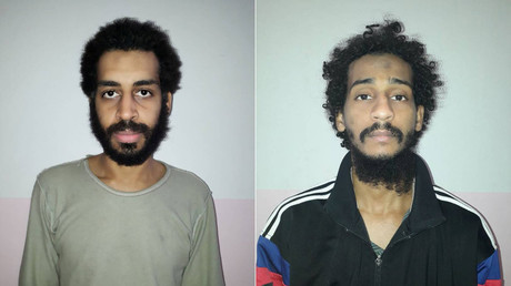Photos provided by SDF on February 9, 2018, showing captured ISIS members Alexanda Kotey and Shafee Elsheikh © SDF handout