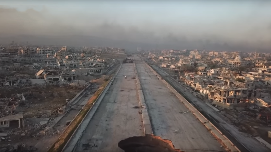 Major E. Ghouta highway cleared after 7-year militant blockade (DRONE FOOTAGE)