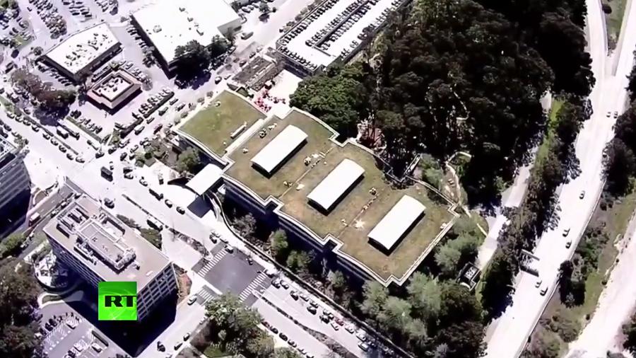 FBI & California police swarm scene of YouTube HQ shooting (VIDEOS)