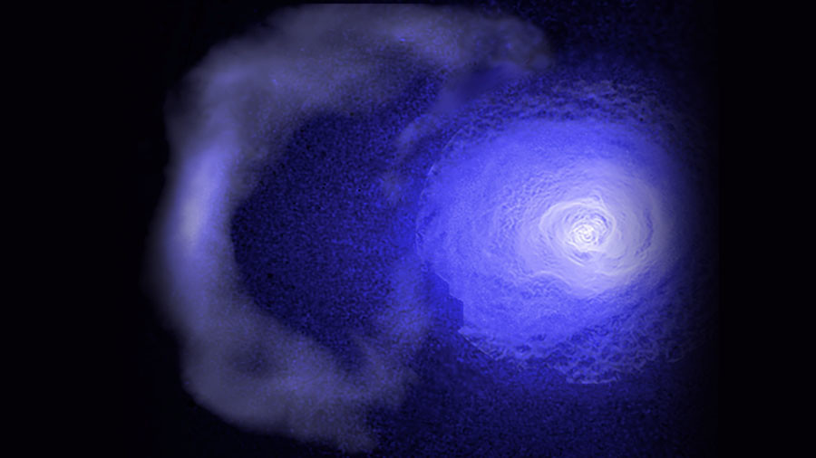 The really big chill: Ancient cold front sweeps 'relentlessly' across galaxy cluster (VIDEO)