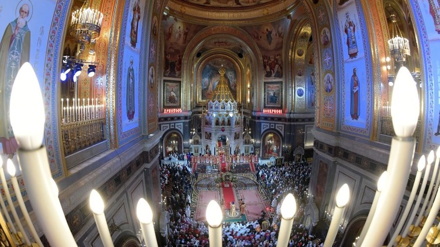 Grand Easter service at Moscow's Christ the Savior Cathedral (VIDEO)