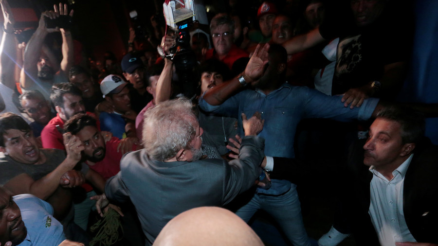 Brazil's ex-President Lula ends standoff & surrenders to police