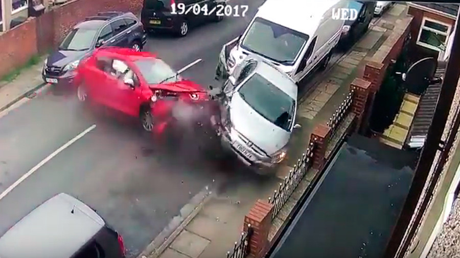 Man crashed 'pride and joy' car before running off and claiming it had been stolen (VIDEO)