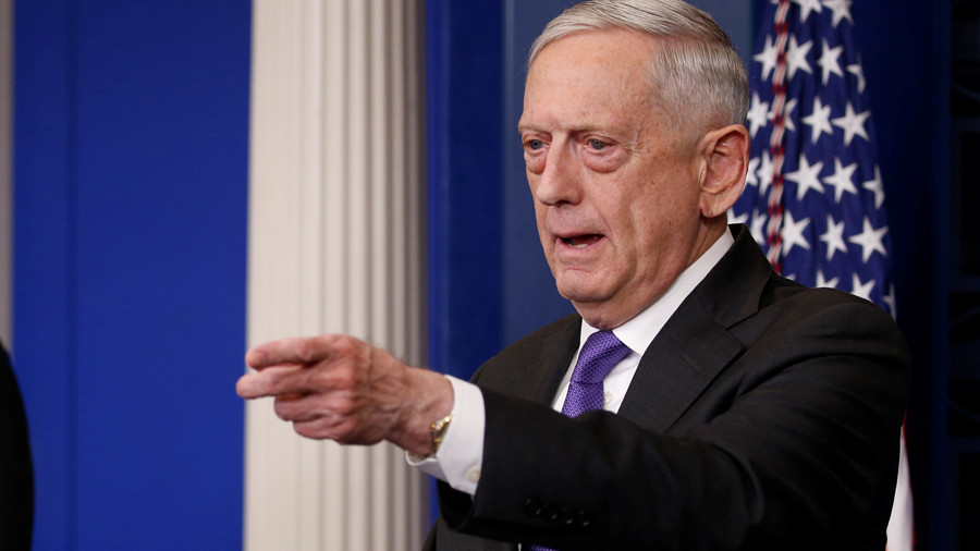 US does not rule out airstrike against Syria: Mattis