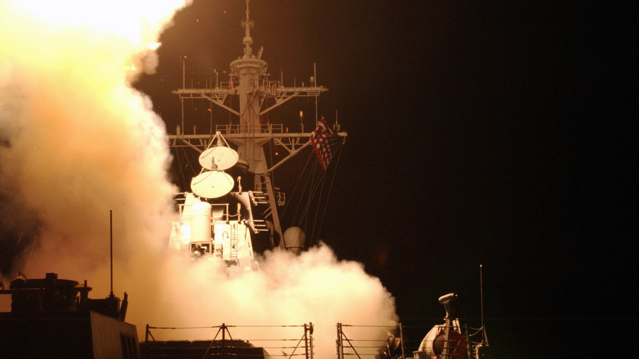 US missile destroyer reportedly sailing toward Syria as Trump weighs options