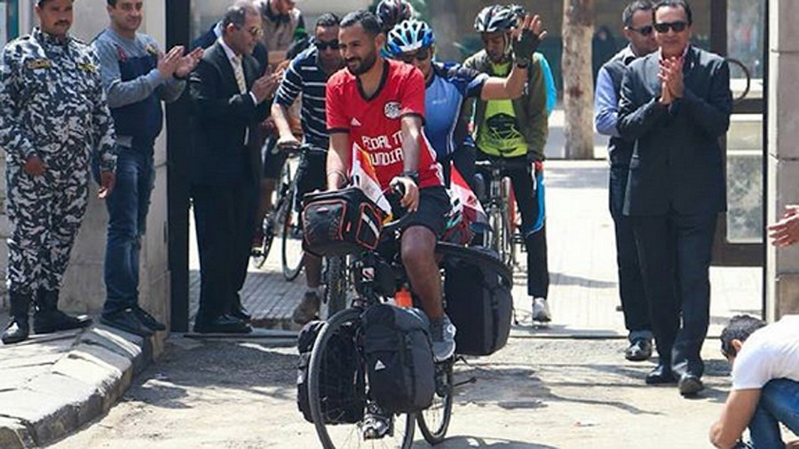 Long road to Russia: Egypt football fan embarks on cycle journey to 2018 World Cup