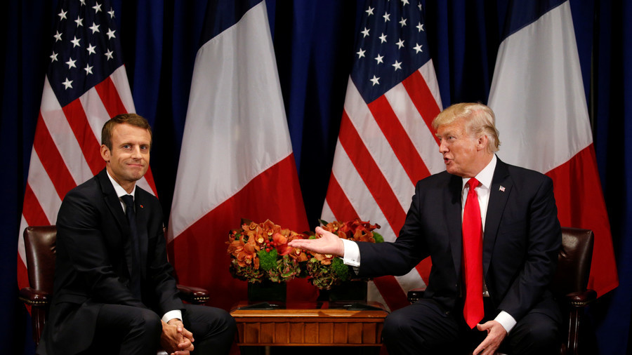 Macron says US, UK & France to decide on 'response' to alleged Syria chem attack in coming days