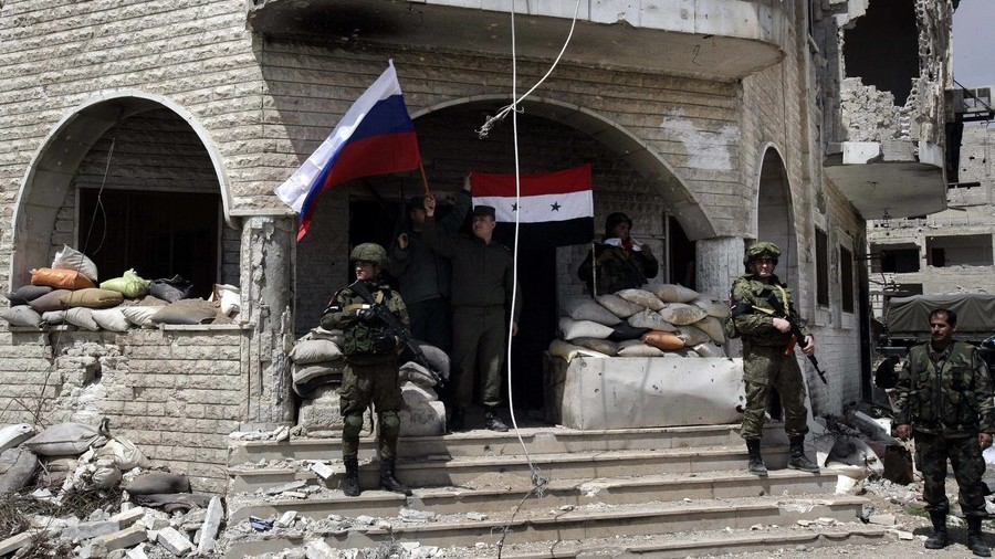 3 Russian journalists injured by gunfire as Douma militants disperse people celebrating liberation