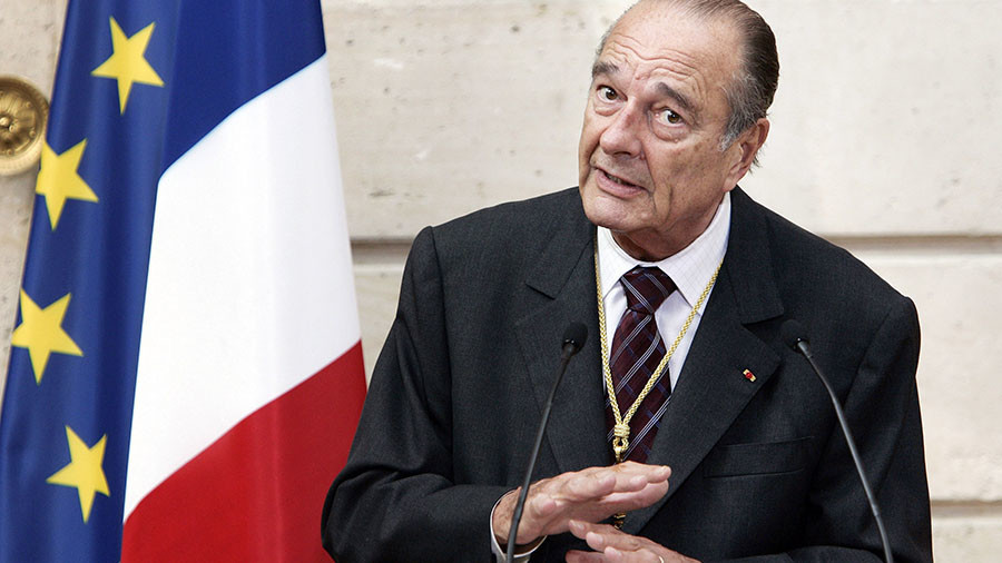 Fashion statement: Paris refugees wearing clothes of former French president Chirac