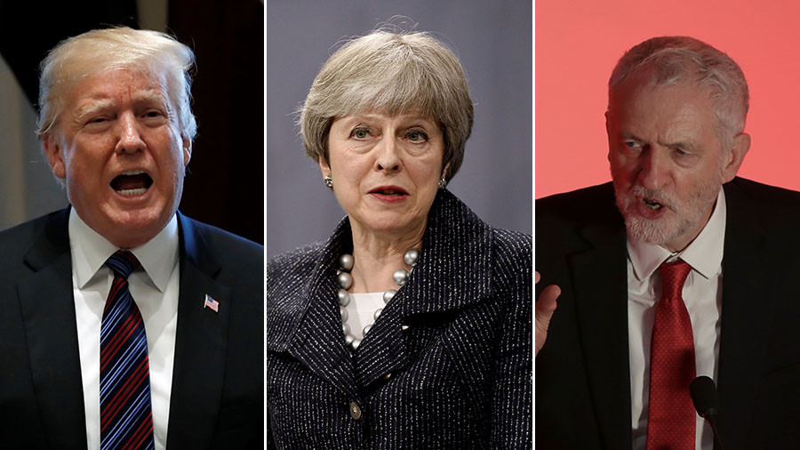 'She's waiting for instructions from Trump': Jeremy Corbyn slams Theresa May over Syria dithering