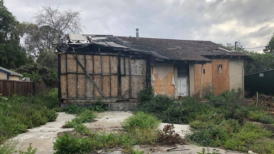 Fire-ravaged hovel in Silicon Valley hits property market with $800,000 price tag