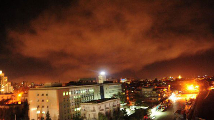 First images of US-led strikes on Damascus emerge (PHOTOS, VIDEOS)