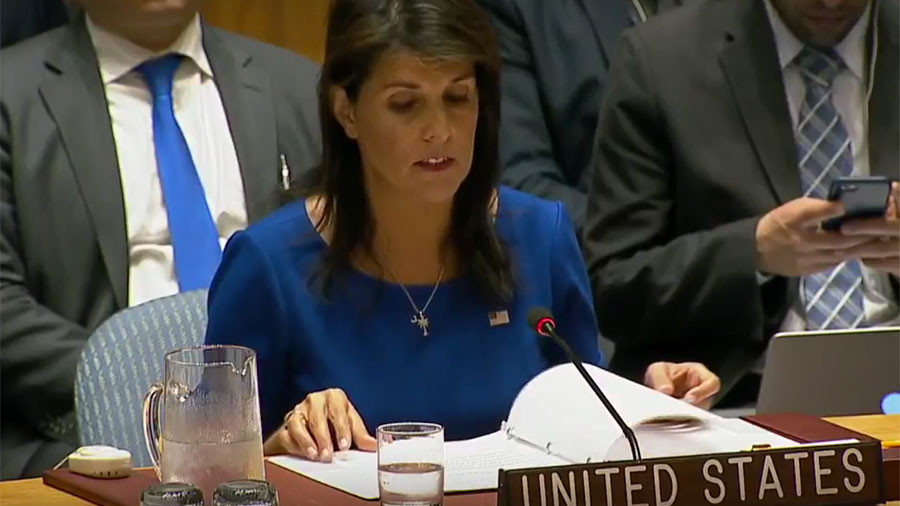 United States  preparing new sanctions on Russian Federation  over Syria, Haley says