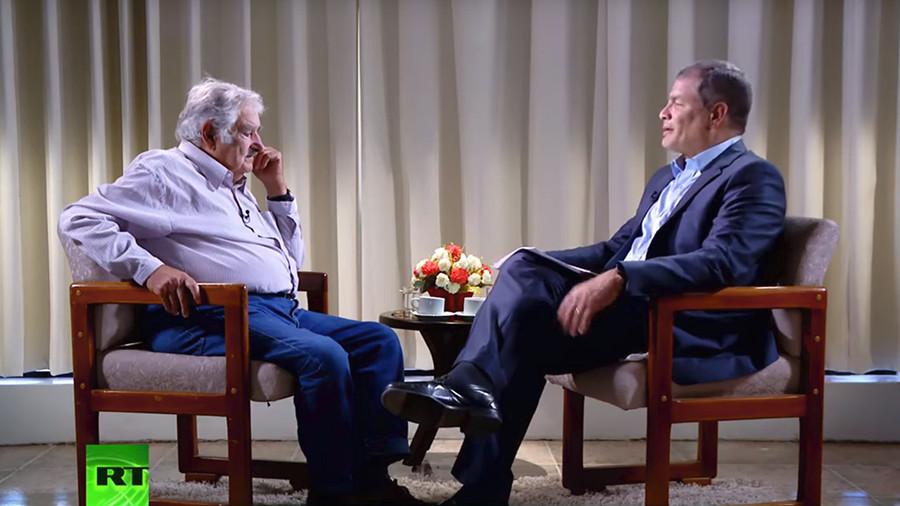 Global community, not global market: Rafael Correa and Jose Mujica discuss perils of globalization