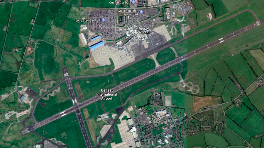 A light aircraft has crashed near Belfast International Airport