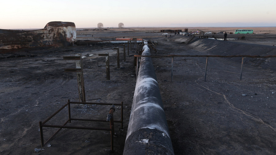 Libya fights to extinguish pipeline fire caused by terrorists