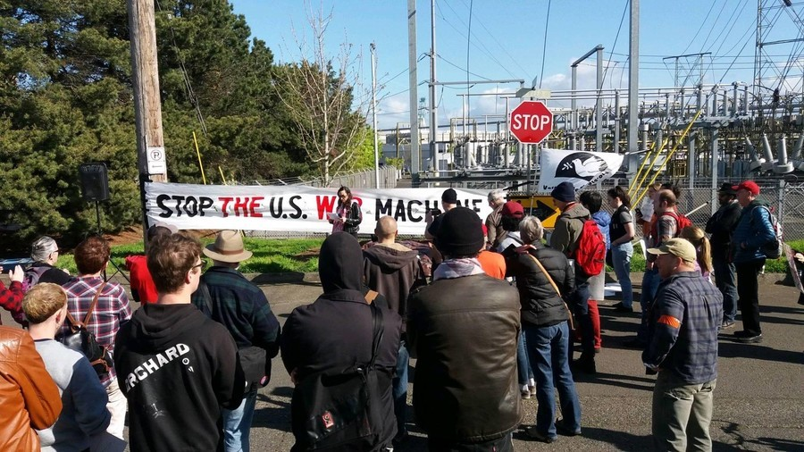 'Stop US war machine!' Activists try to obstruct USS Portland commissioning (VIDEO)