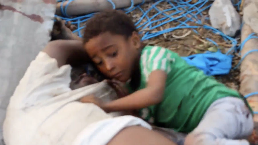 This boy clinging to dead body unlikely to become face of Yemen war for millions in the West