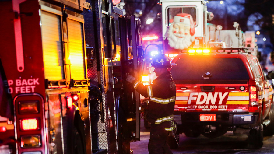 Massive fire engulfs row of stores in Bronx, 3 FDNY units battle blaze