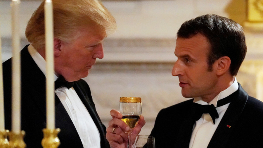 Trolling the bromance: Trump-Macron love-in sparks major meme meltdown
