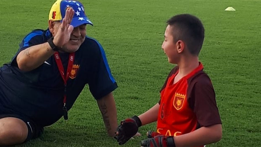 'When Maradona hugged me, it felt like he's my grandpa' – disabled Kazakh boy on meeting his idol