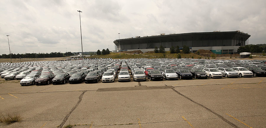 Massive Car Graveyard Where Volkswagen Diesel Vehicles Go
