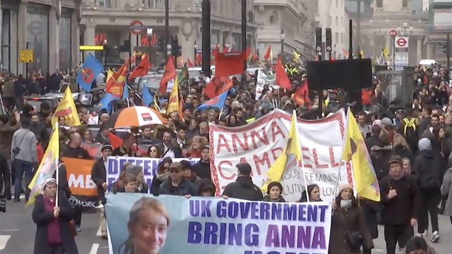 Hundreds of pro-Afrin supporters protest against UK support of Turkey (VIDEO)
