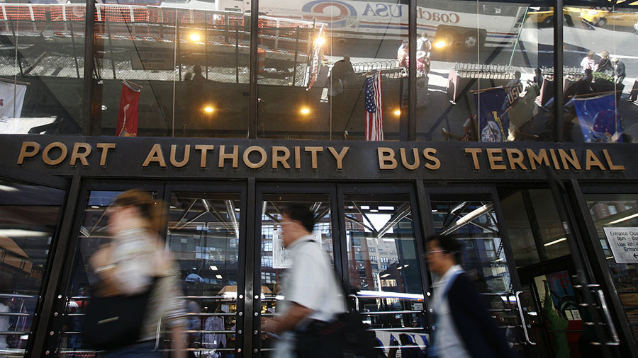 New York Port Authority terminal's work disrupted after report of white powder