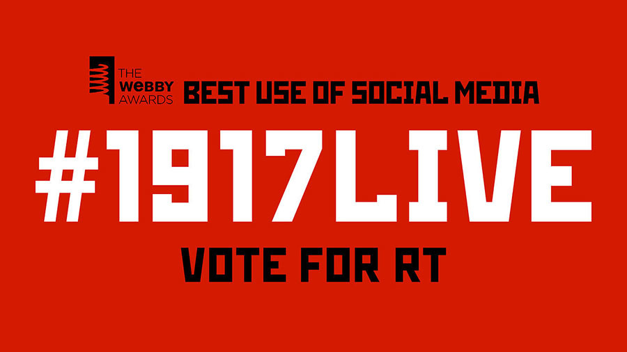 #1917LIVE nominated for Webby Awards: Vote and help RT win an 'Oscar of the Internet'