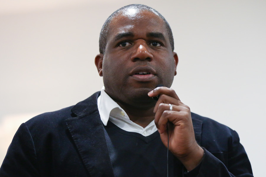 Labour MP David Lammy rants on live TV about 'vanishing' police… as cop stands in background (VIDEO)