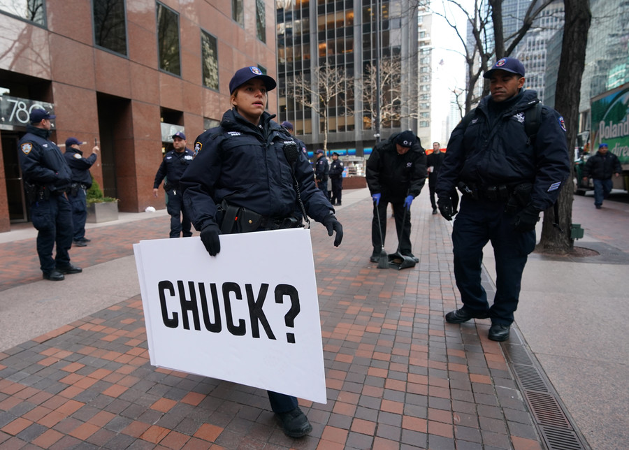 Activists arrested at Chuck Schumer's Manhattan office following Gaza protest
