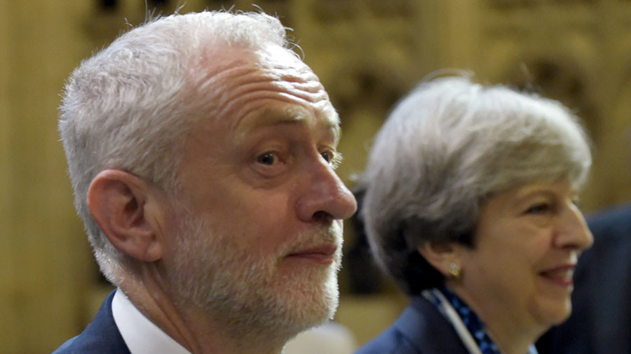 Theresa May calls for 'more evidence' before military action in Syria – right out of Corbyn's book?