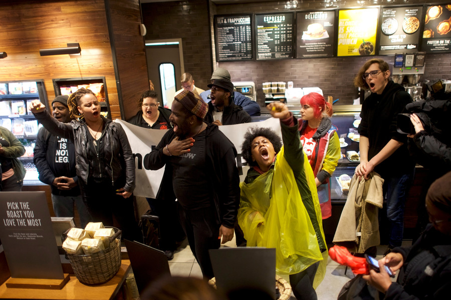 Protests shut down Philadelphia Starbucks over arrests of black men
