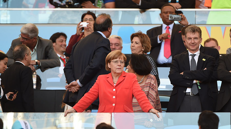 German FA president hopes Angela Merkel will visit 2018 World Cup in Russia