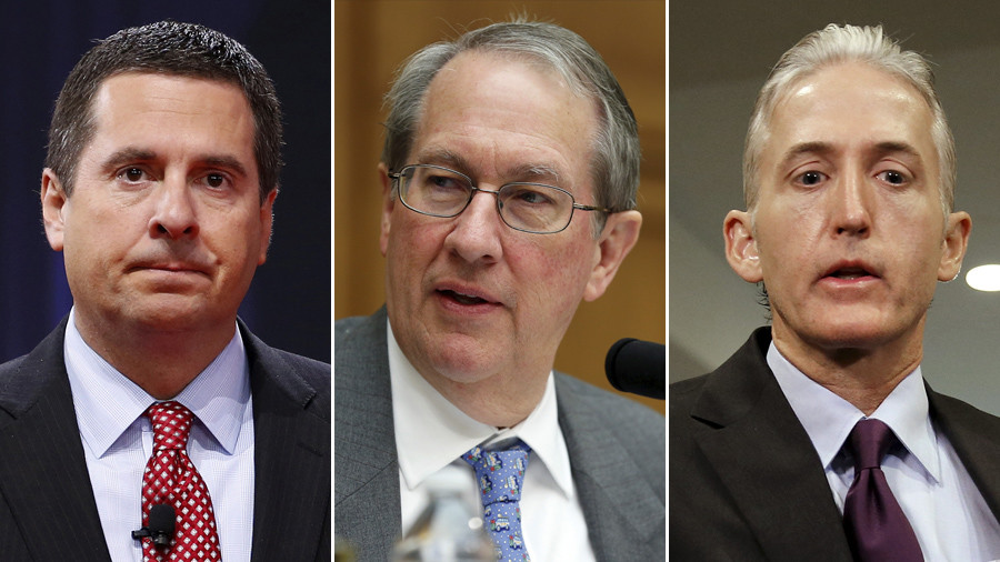 'The real crime was his own firing': Nunes, Goodlatte and Gowdy savage Comey