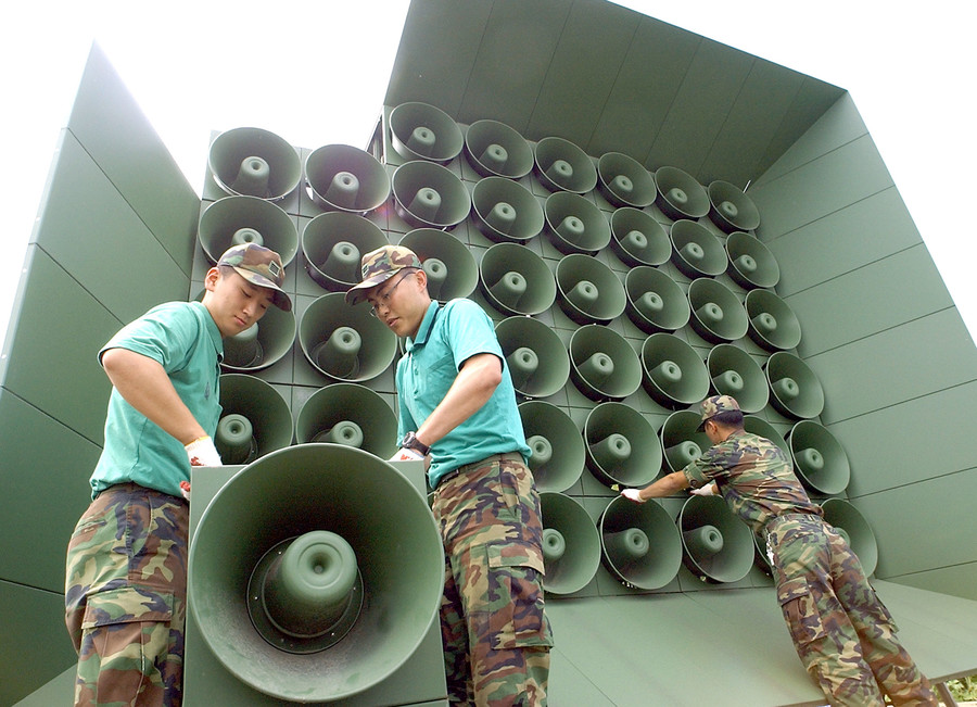 South Korea halts border propaganda speakers as summit with North looms