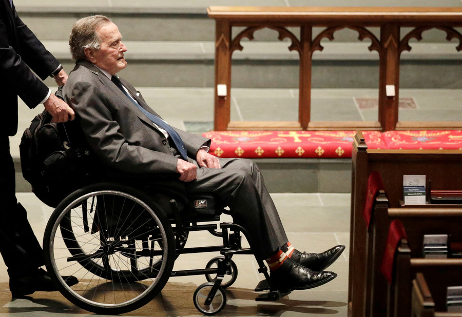 Former US President George H.W. Bush hospitalized
