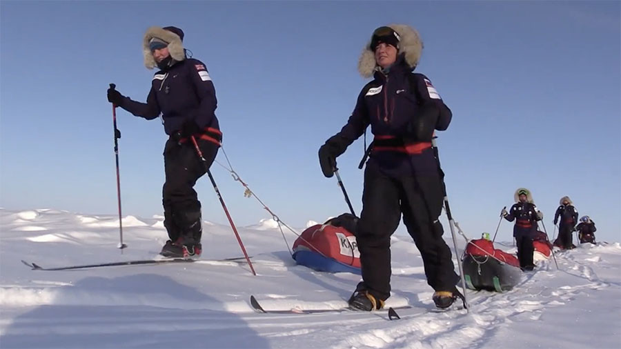 Top of the world: First ever all-woman Euro-Arabian ski team reaches North Pole