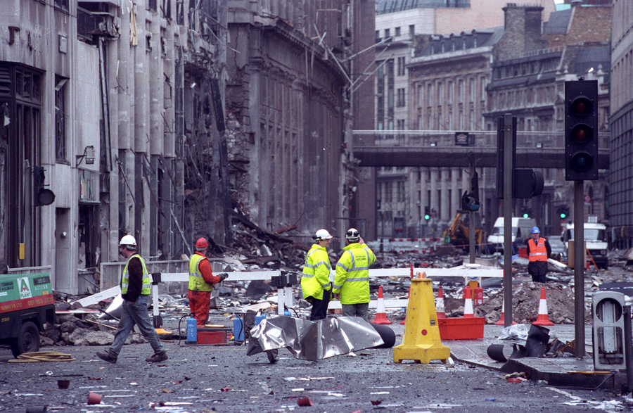 Bishopsgate bomb 25yrs on: New photos show devastation of a crime never solved (PHOTOS)