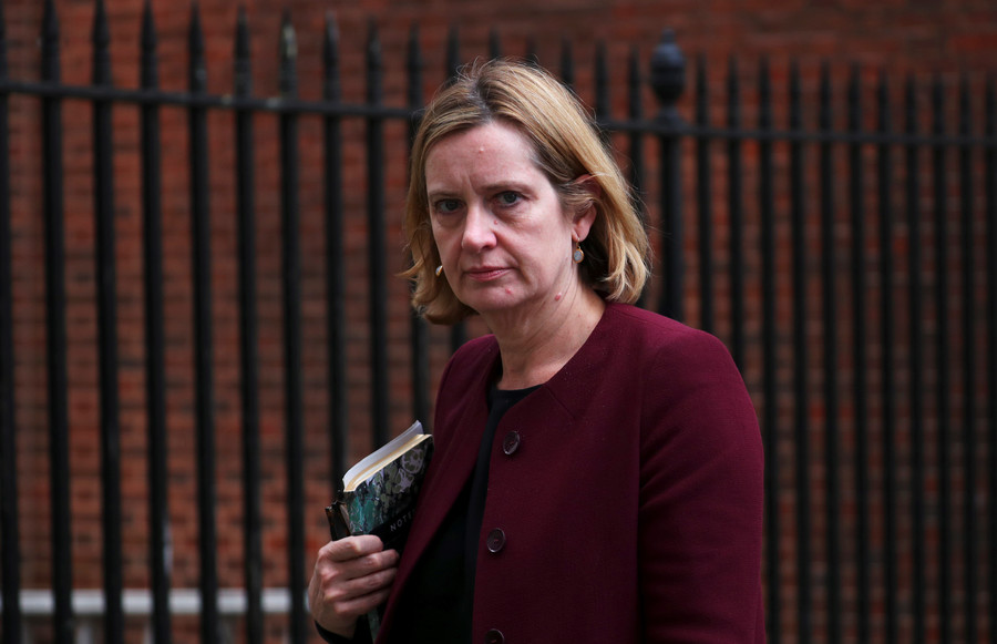 How has UK Home Secretary Amber Rudd managed to keep her job?